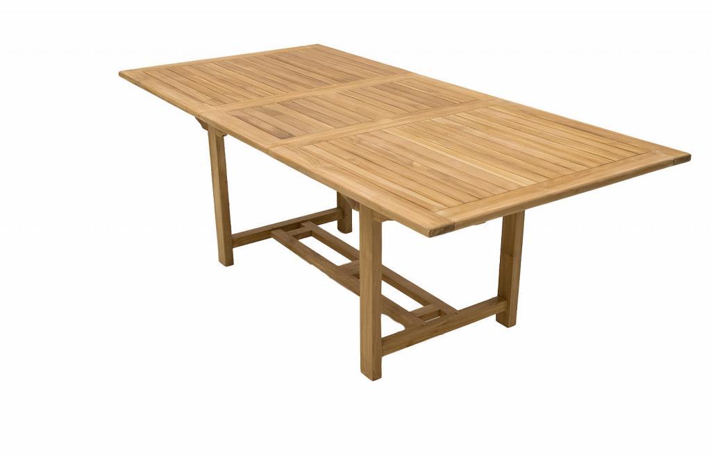 Produktové foto DEOKORK VÝPRODEJ Zahradní obdelníkový stůl MONTANA 160/210 x 100 cm (teak)