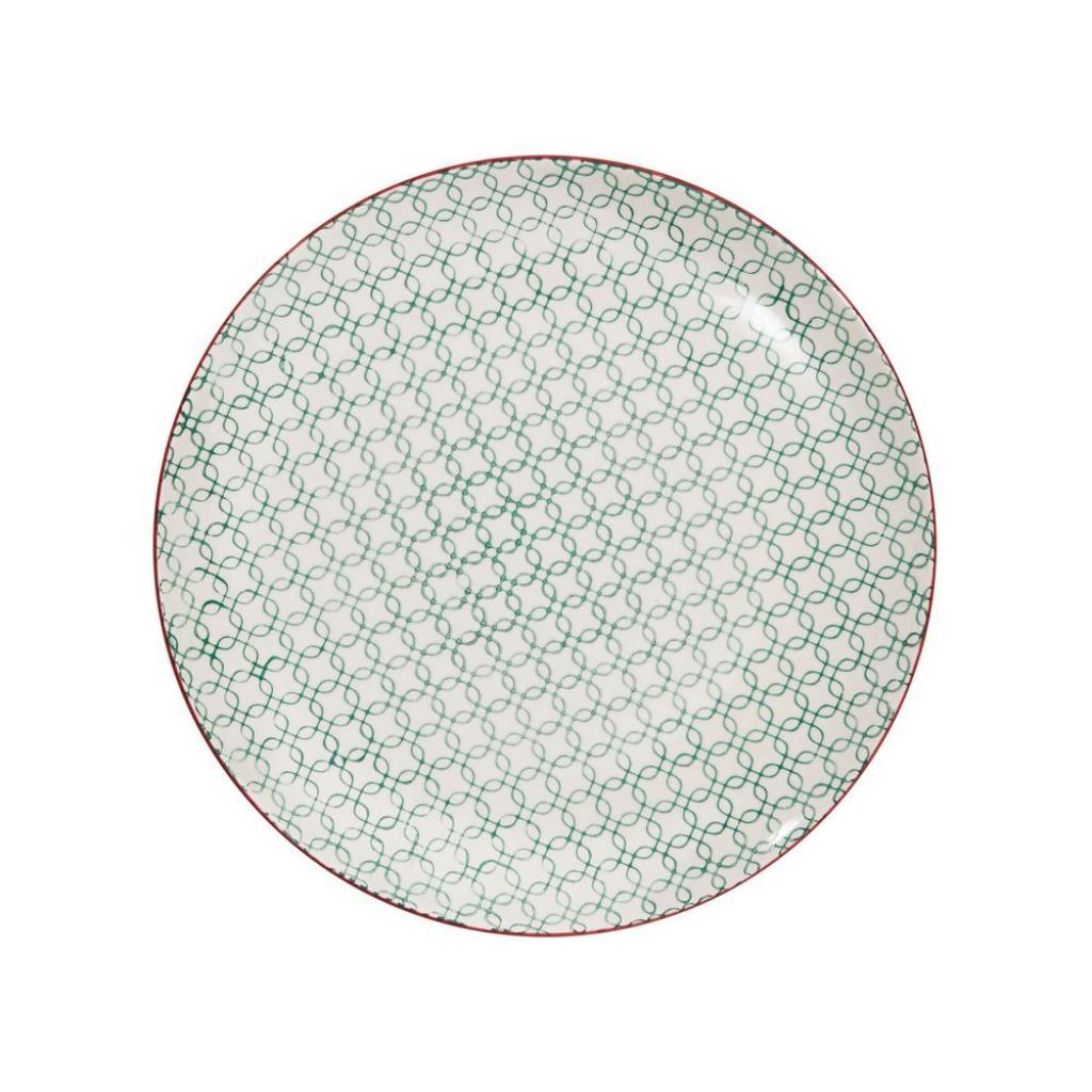 Produktové foto RETRO Sada talířů 26,4 cm set 6 ks - petrolejová