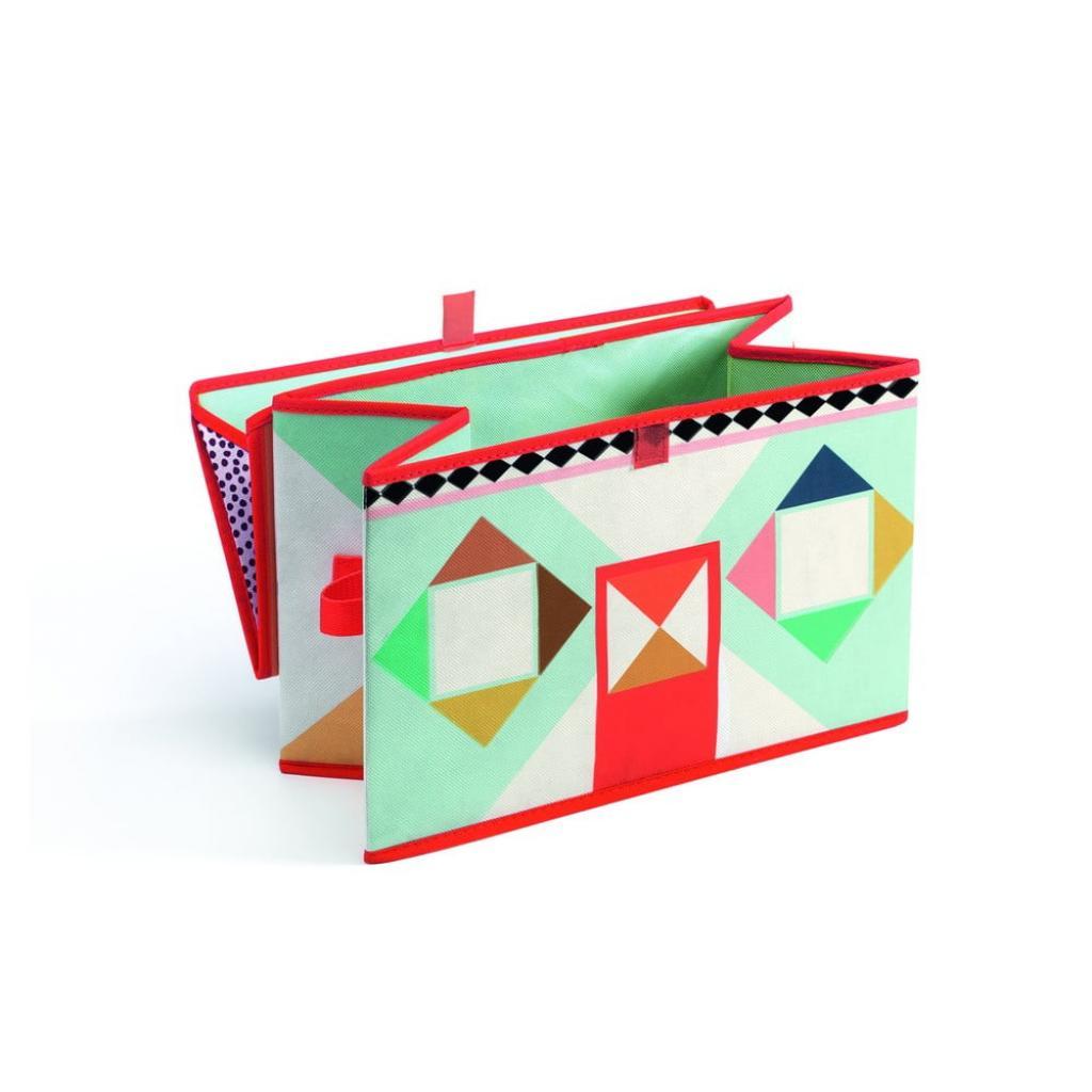 Produktové foto Pestrobarevná krabička na hračky Djeco Domeček