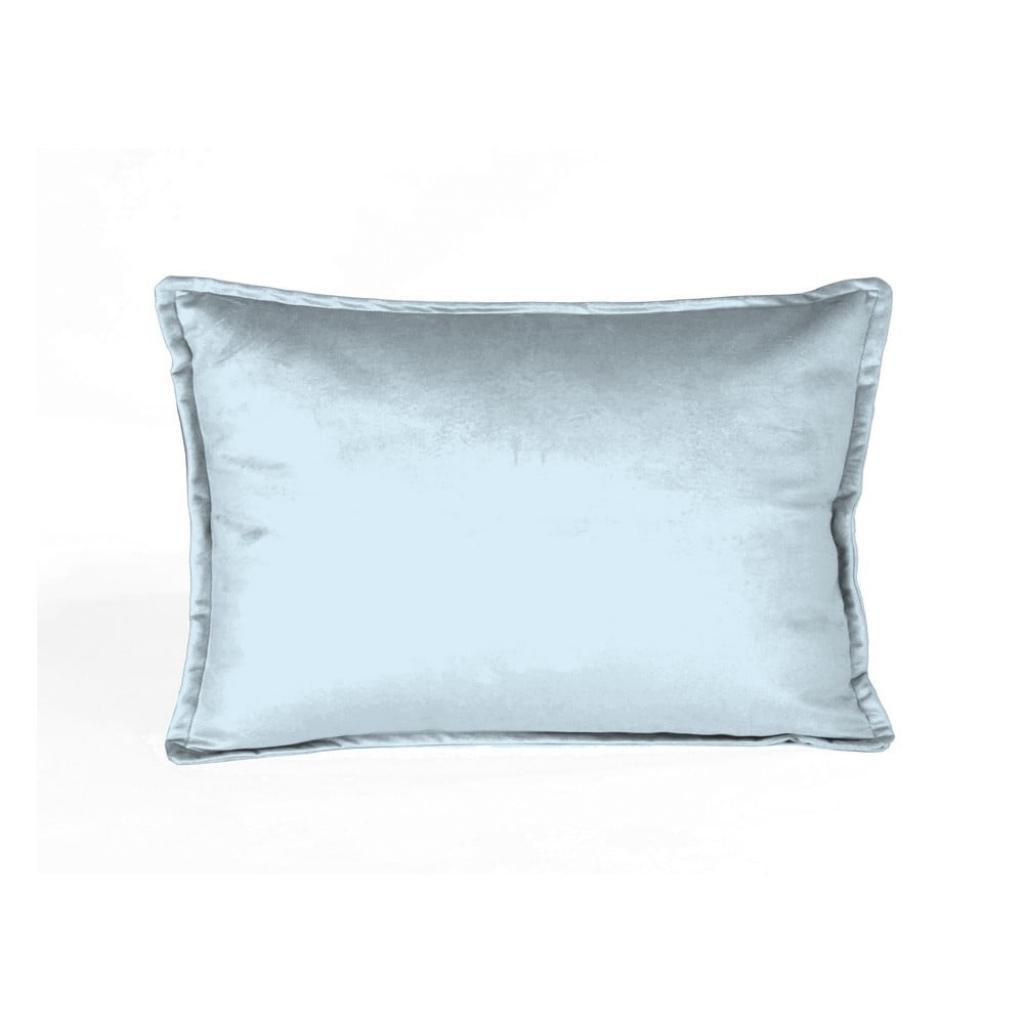 Produktové foto Světle modrý sametový polštář Velvet Atelier Terciopelo,50x35cm