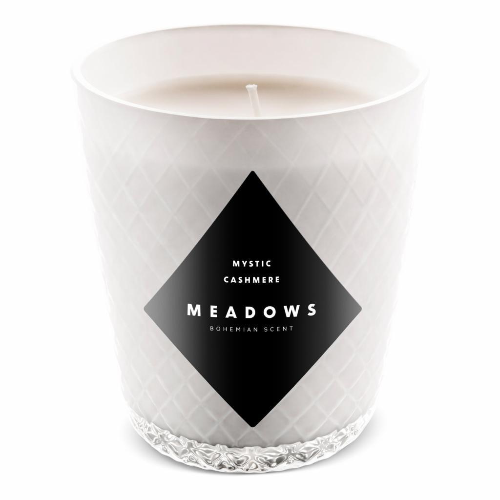 Produktové foto Meadows Vonná svíčka Mystic Cashmere mini bílá vůně mystického orientu