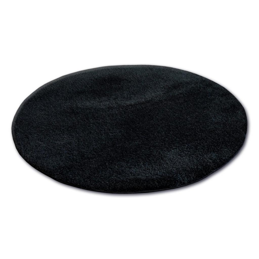Produktové foto 3kraft Kulatý koberec SHAGGY MICRO černý