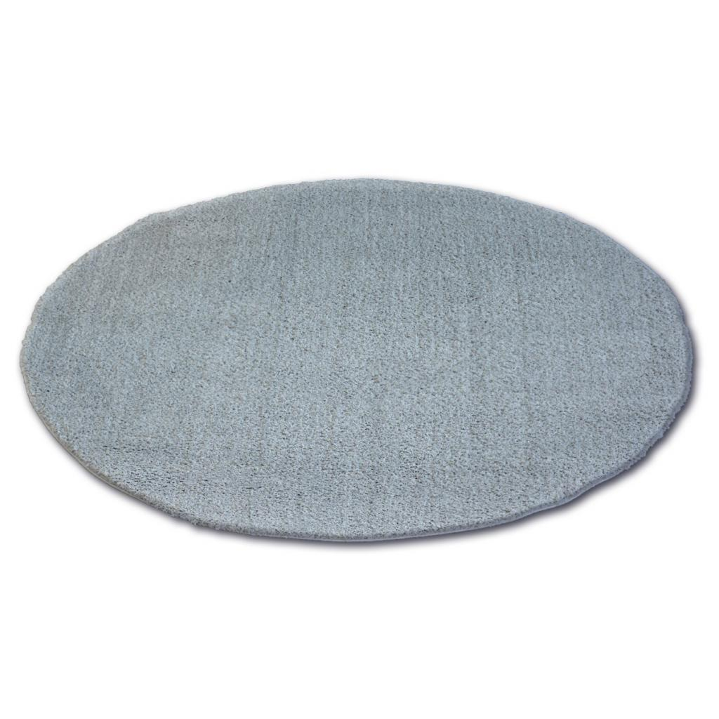 Produktové foto 3kraft Kulatý koberec SHAGGY MICRO stříbrný