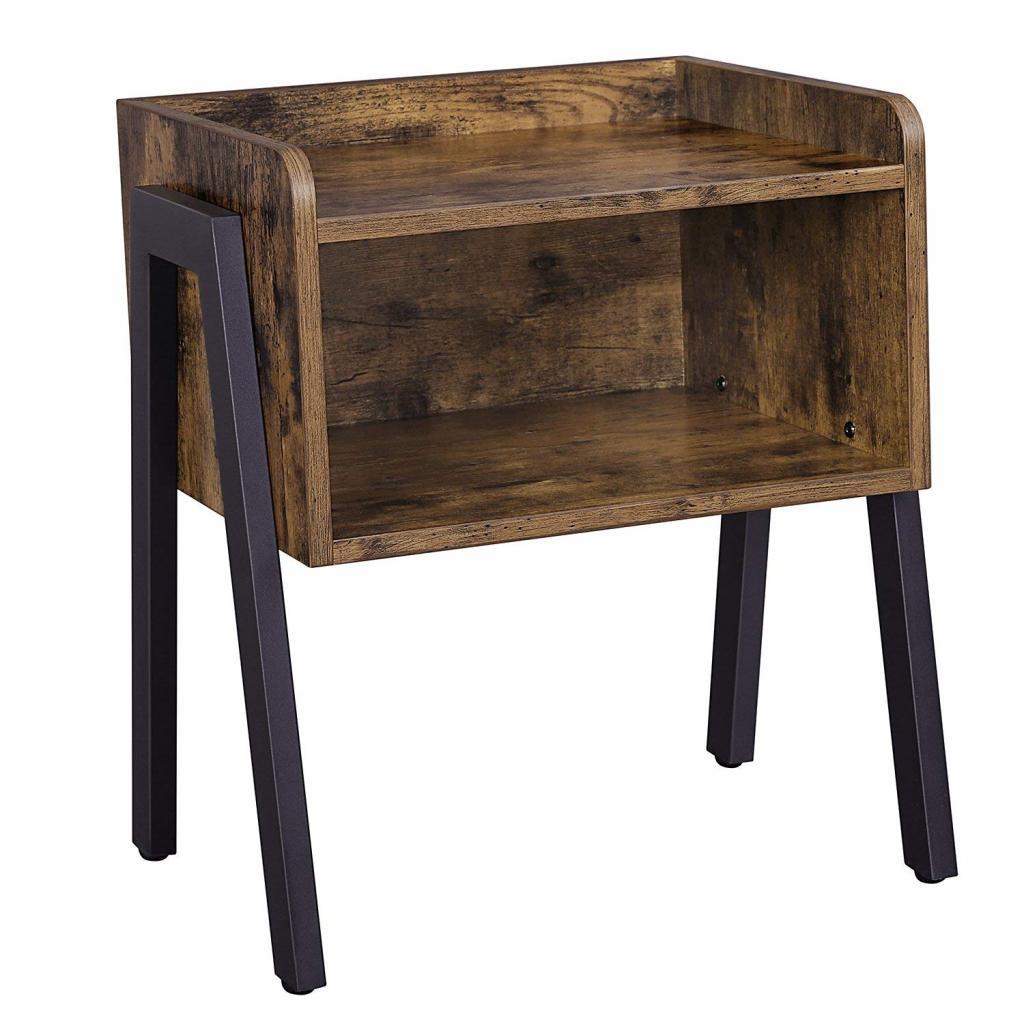Produktové foto Rongomic Noční stolek SKU Jovani tmavě hnědý