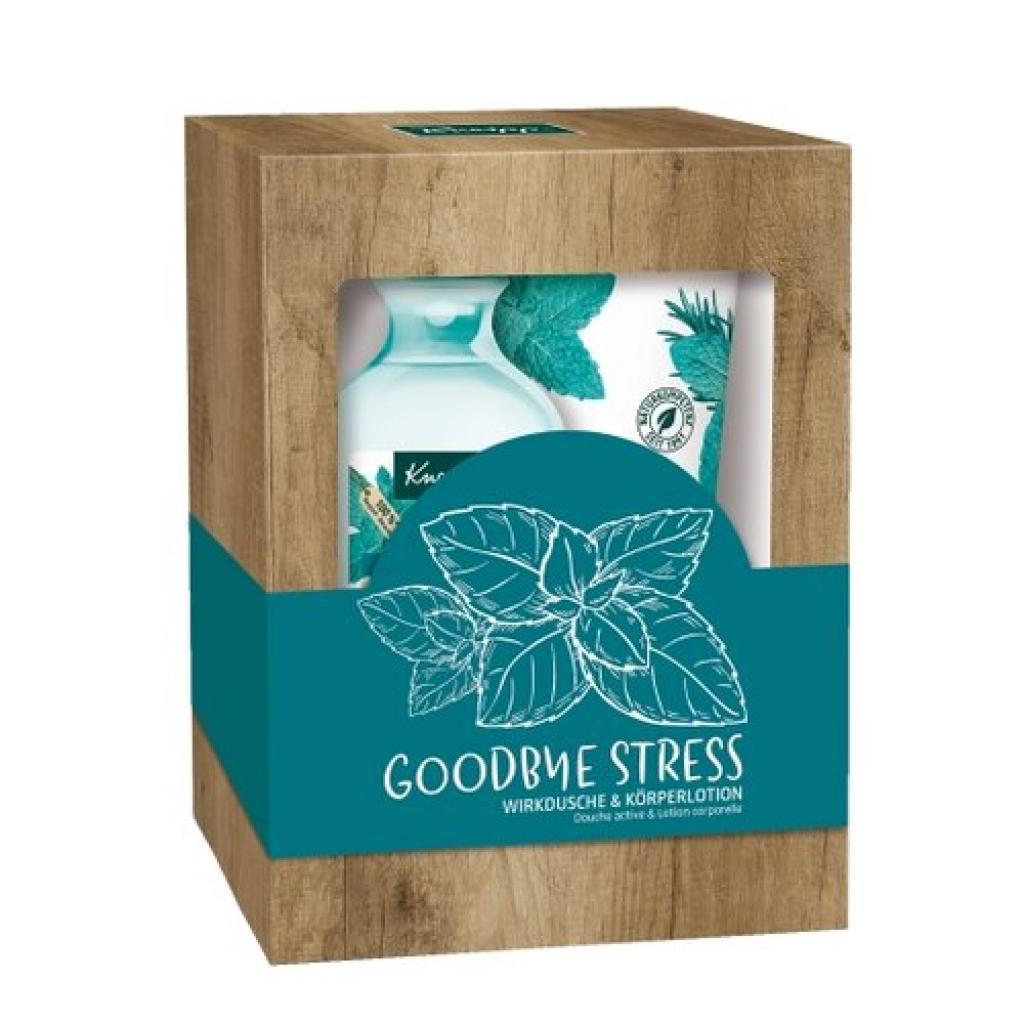 Produktové foto Kneipp Sada sprchového gelu a tělového mléka Goodbye Stress, 2 ks