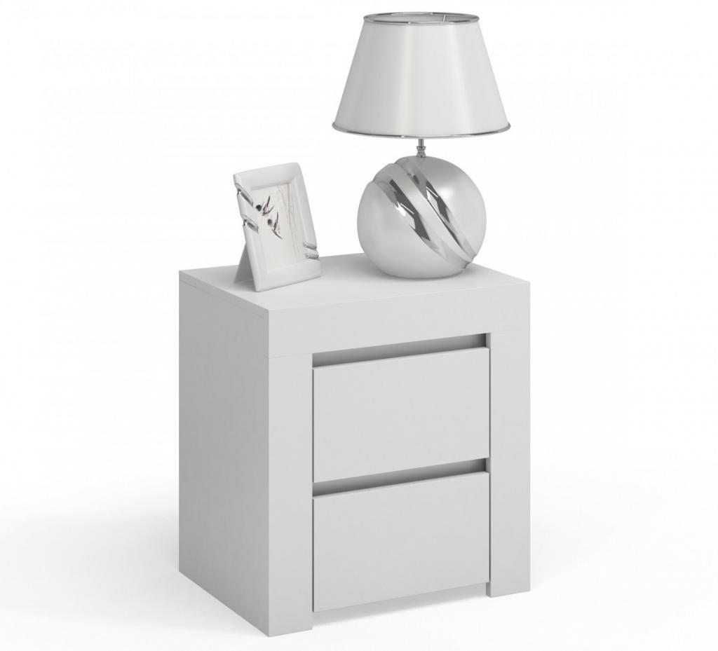 Produktové foto Shoptop Noční stolek DEKO D2 bílý