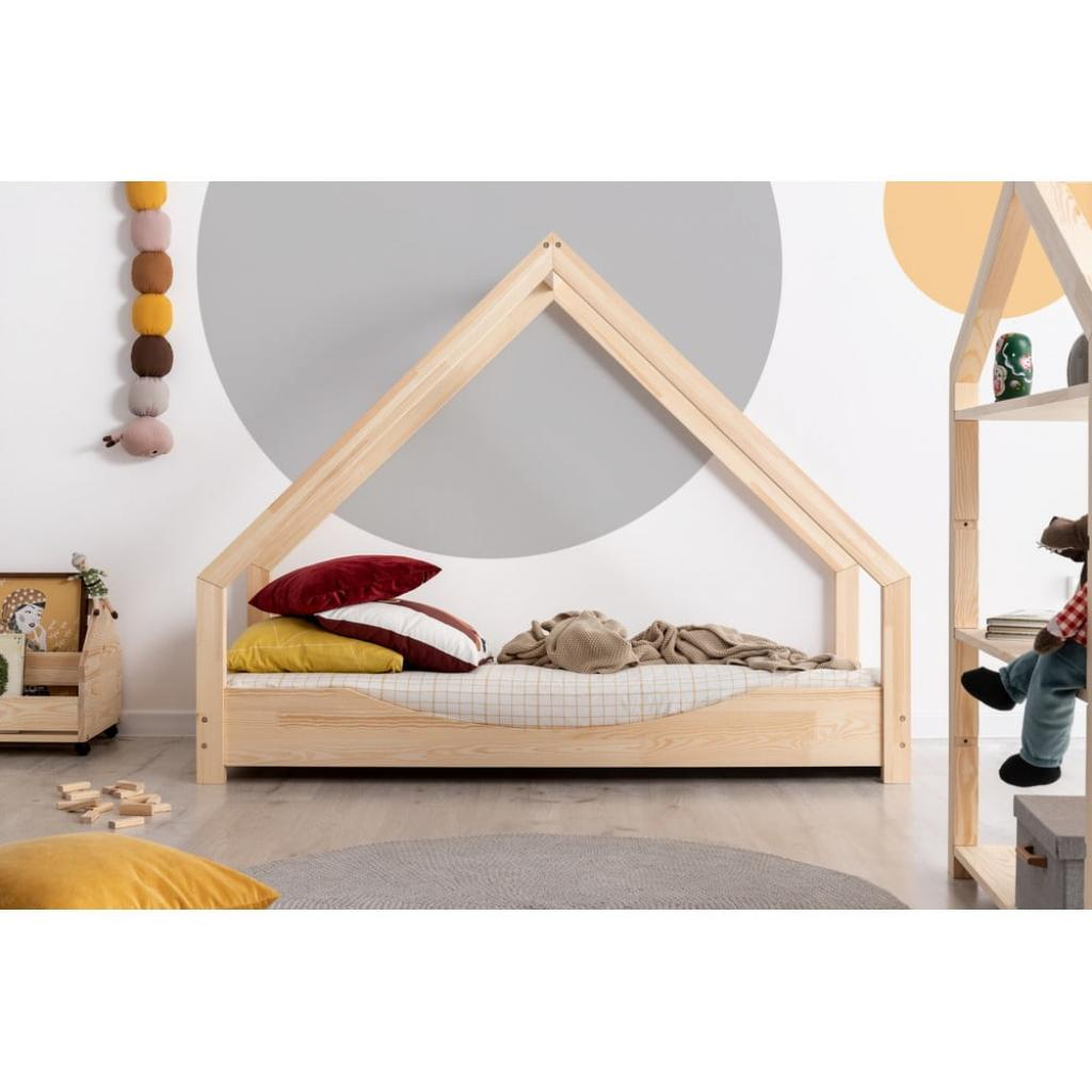 Produktové foto Domečková dětská postel z borovicového dřeva Adeko Loca Elin,90x140cm