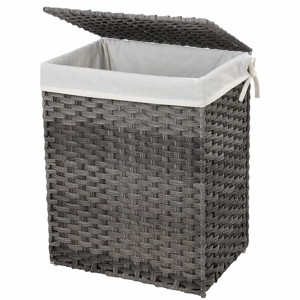 Produktové foto Rongomic Koš na prádlo LILI 90 L šedý