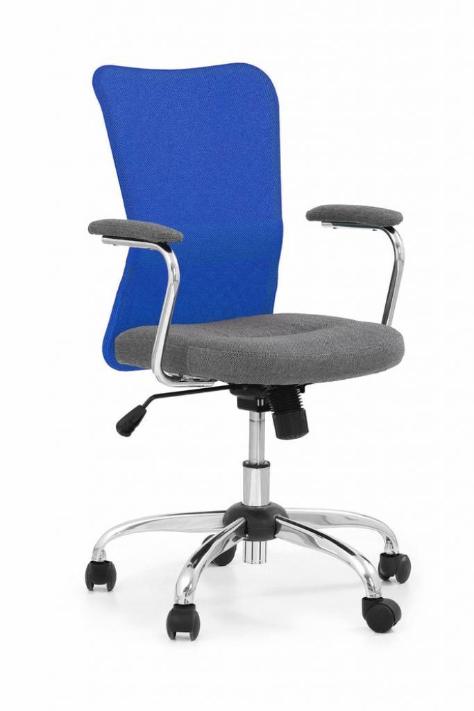 Produktové foto Halmar Dětská síťovaná židle Andy, šedá/modrá