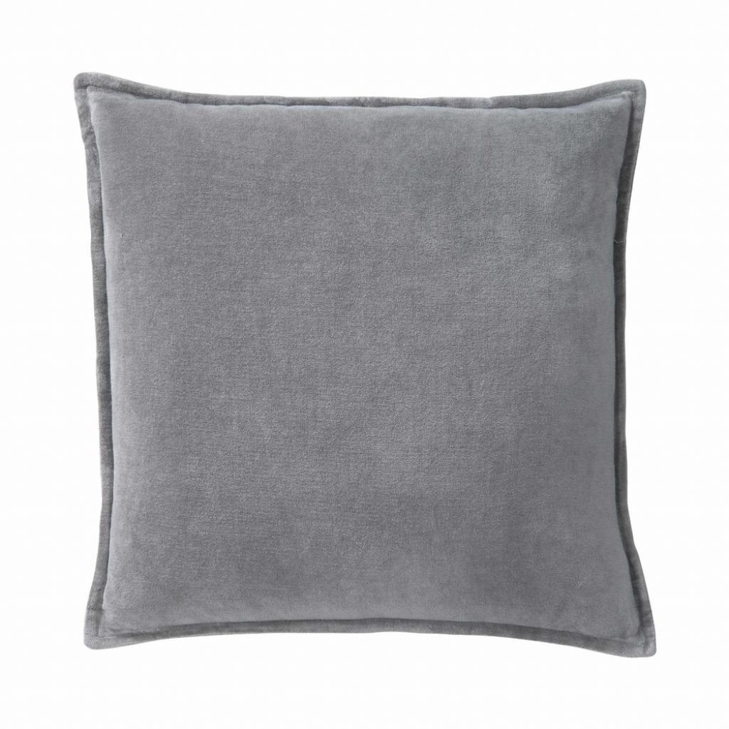 Produktové foto COTTON VELVET Polštář sametový 45 x 45 cm - šedá