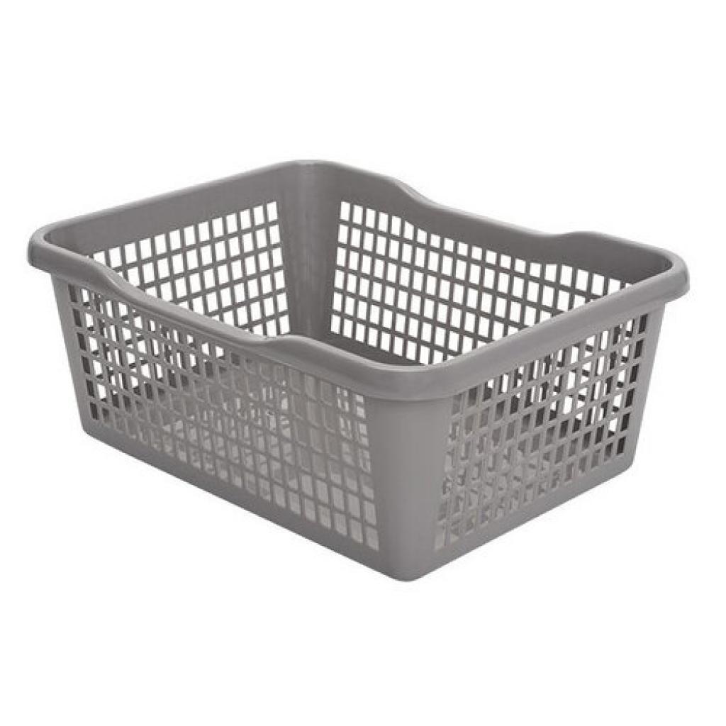 Produktové foto Aldo Plastový košík 47,5 x 37,8 x 20,8 cm, šedá