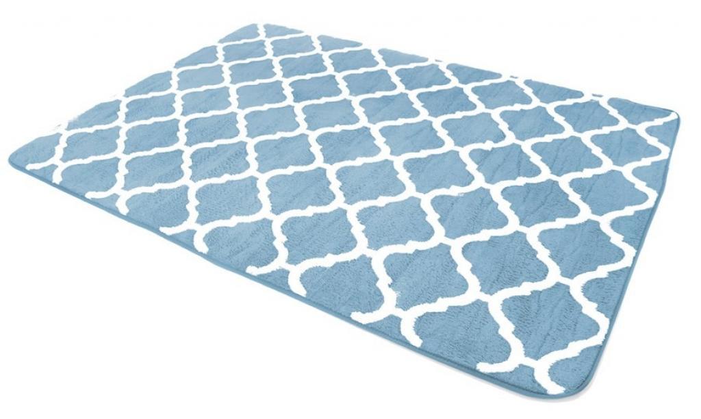 Produktové foto Tutumi Plyšový koberec Clover Baroc modrý