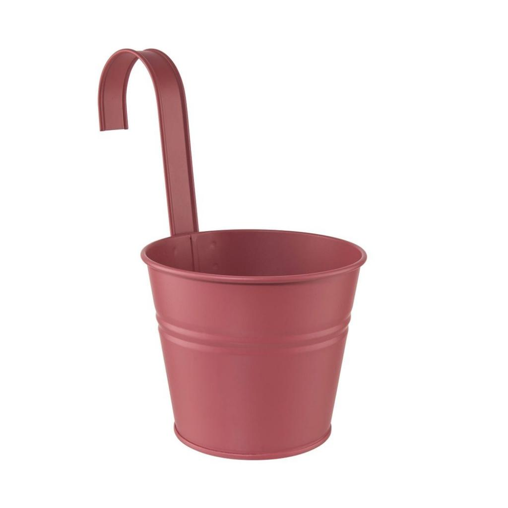 Produktové foto ZINC Květináč na zavěšení 13 cm - sv. červená
