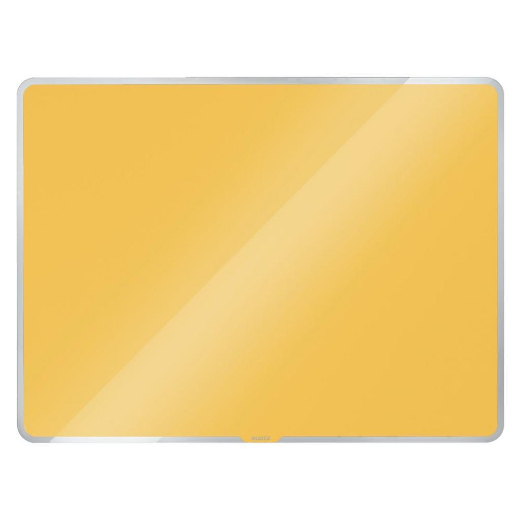 Produktové foto Žlutá skleněná magnetická tabule Leitz Cosy, 60 x 40 cm
