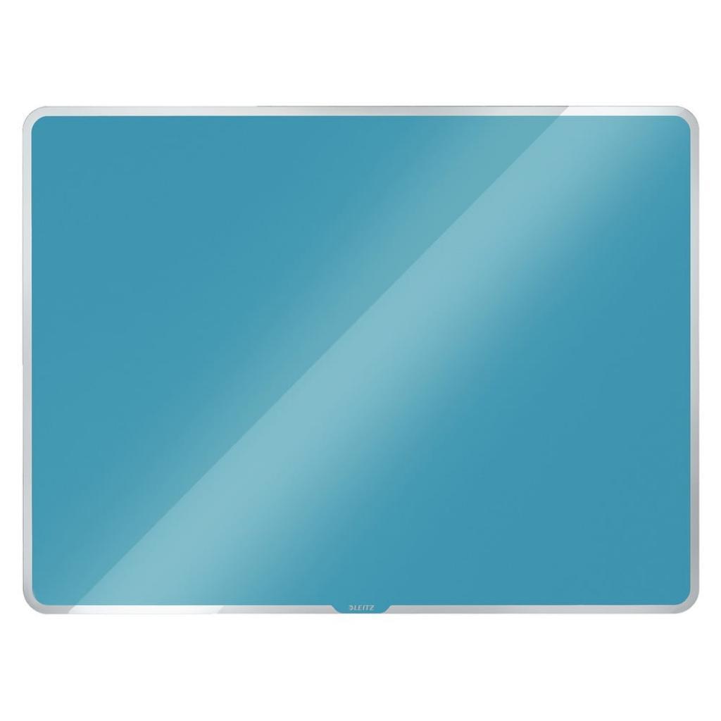 Produktové foto Modrá skleněná magnetická tabule Leitz Cosy, 60 x 40 cm