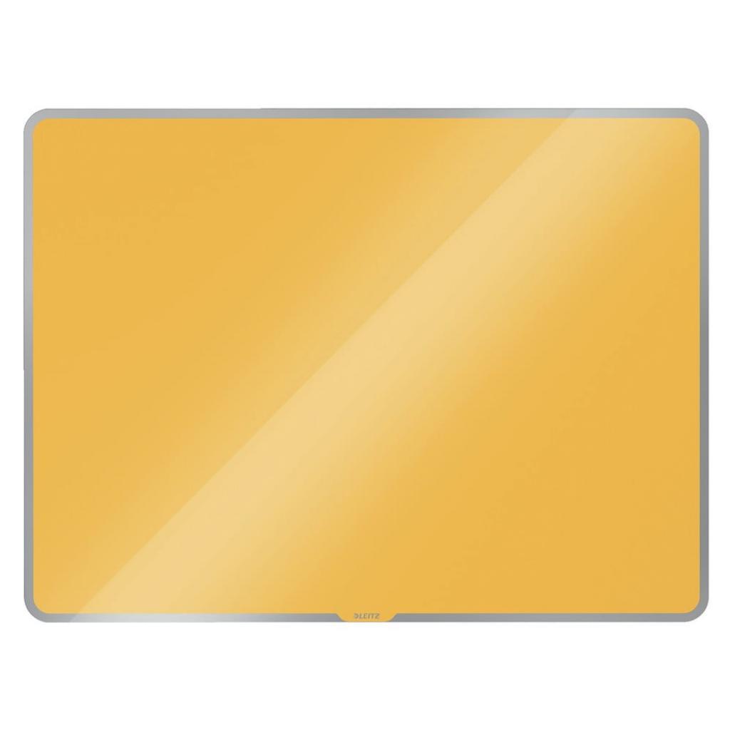 Produktové foto Žlutá skleněná magnetická tabule Leitz Cosy, 80 x 60 cm