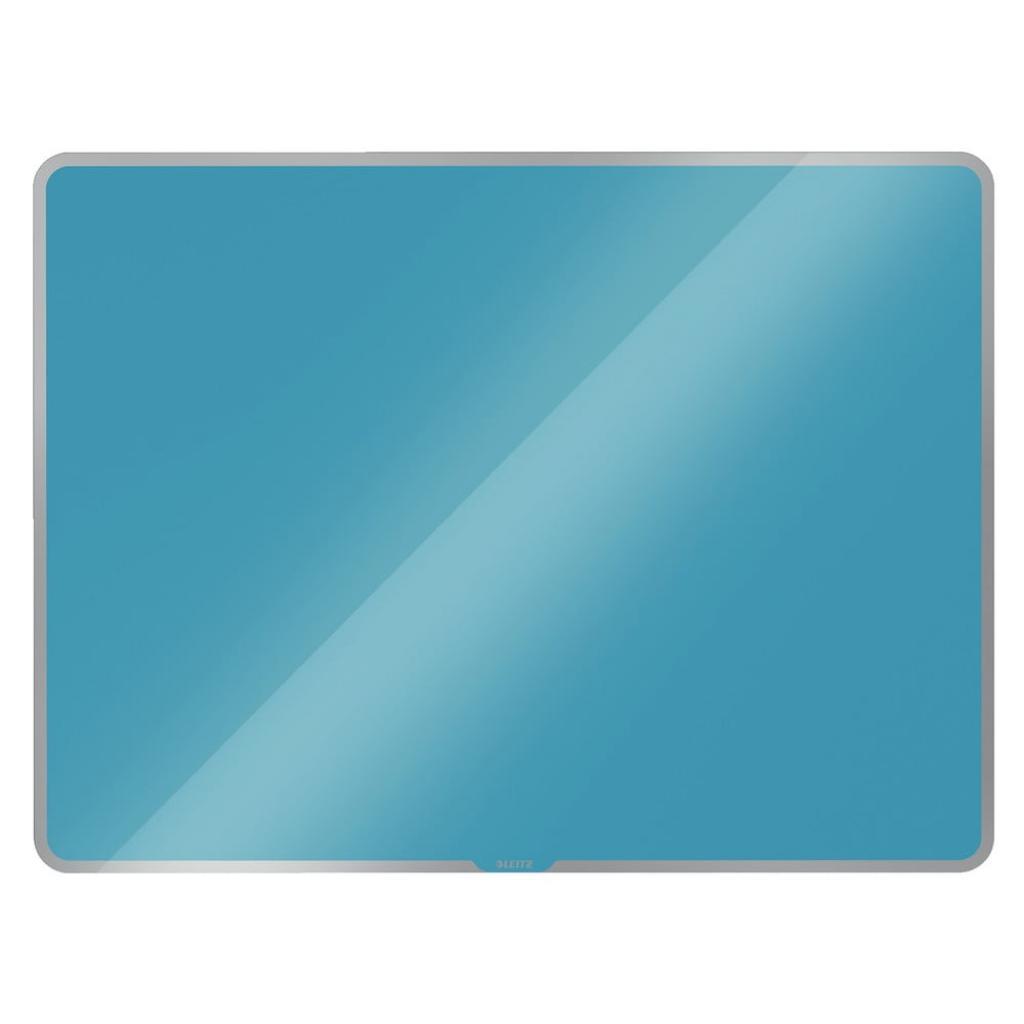 Produktové foto Modrá skleněná magnetická tabule Leitz Cosy, 80 x 60 cm