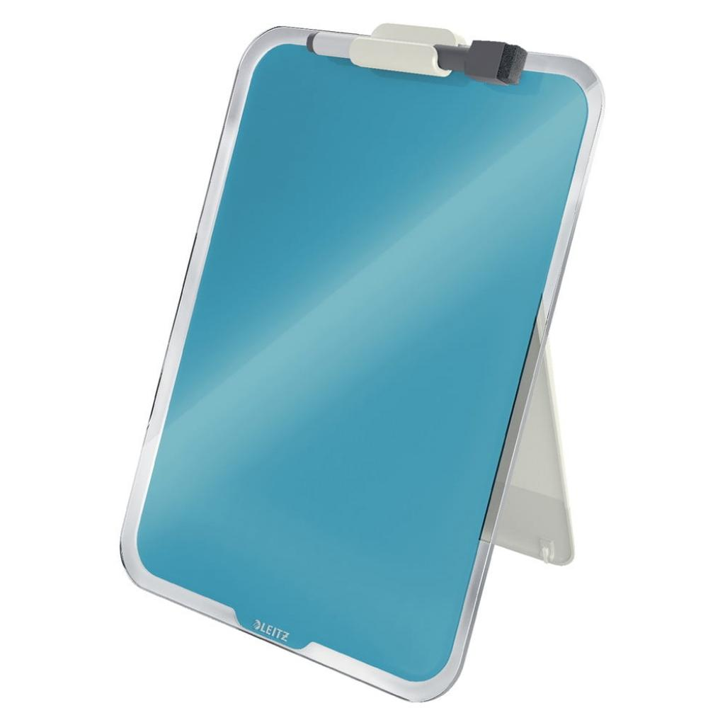 Produktové foto Modrý skleněný flipchart na stůl Leitz Cosy, 22 x 30 cm