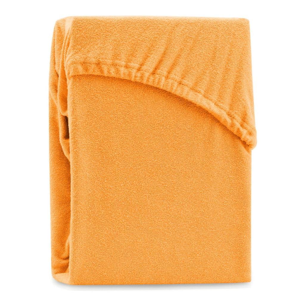 Produktové foto Oranžové elastické prostěradlo na dvoulůžko AmeliaHome Ruby Siesta, 180/200 x 200 cm