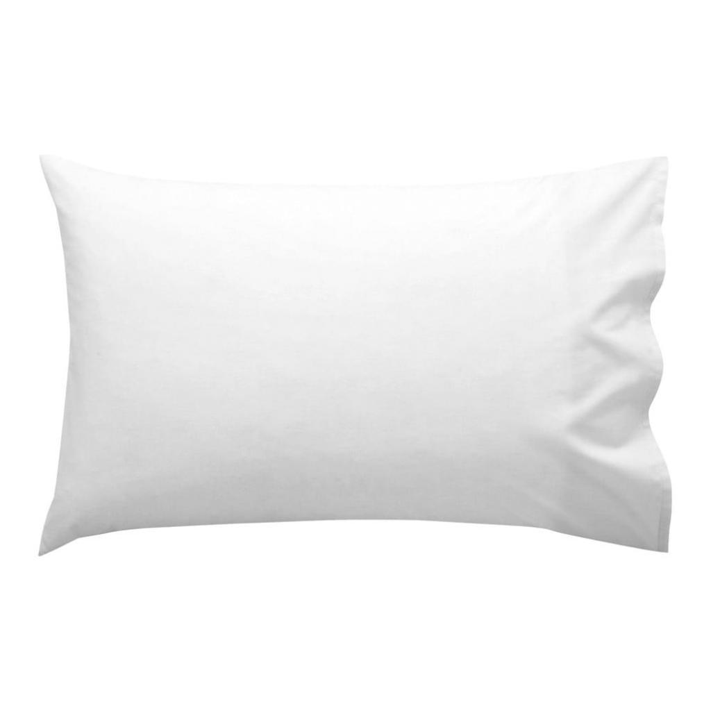 Produktové foto Bílý bavlněný povlak na polštář Happy Friday Basic, 50x30 cm