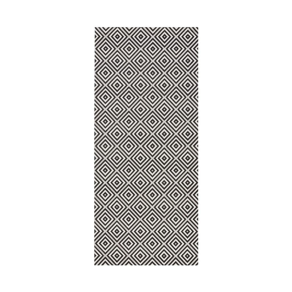 Produktové foto Černo-bílý venkovní koberec Bougari Karo, 80x150cm