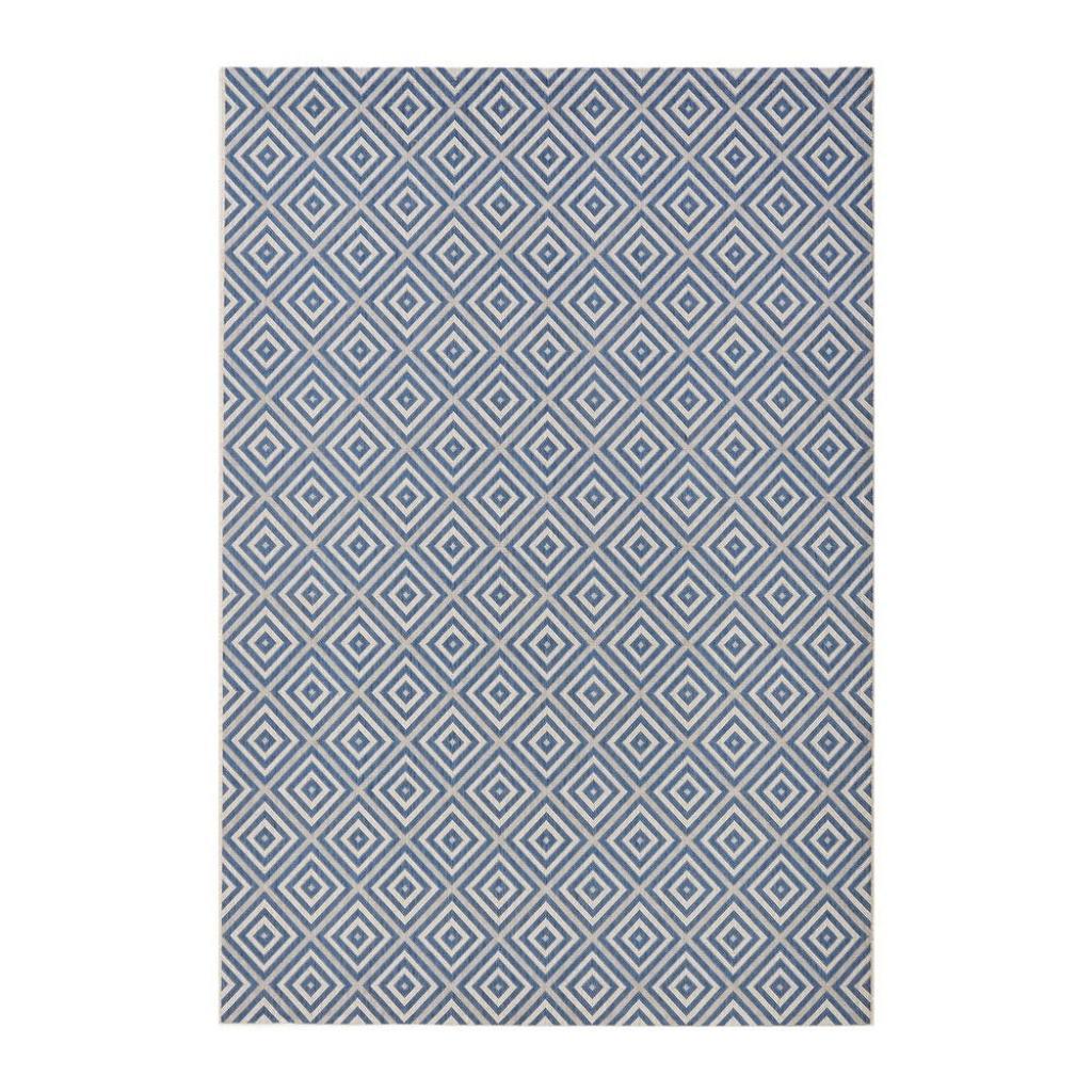 Produktové foto Modrý venkovní koberec Bougari Karo, 140x200cm