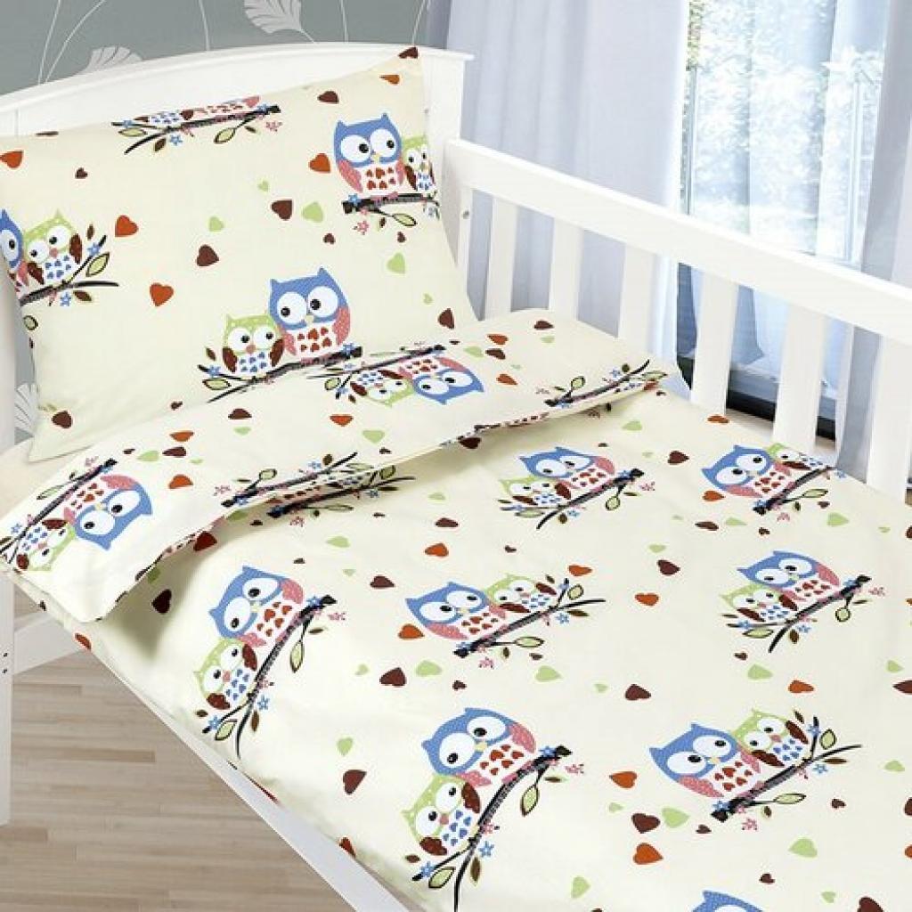 Produktové foto Bellatex Dětské povlečení Agáta Sovičky, 90 x 135 cm, 45 x 60 cm