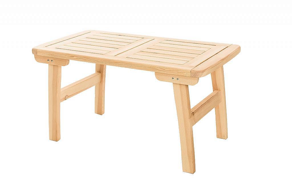 Produktové foto DEOKORK Masivní zahradní stůl z borovice ROMANTIC (32 mm) - různé délky 150 cm