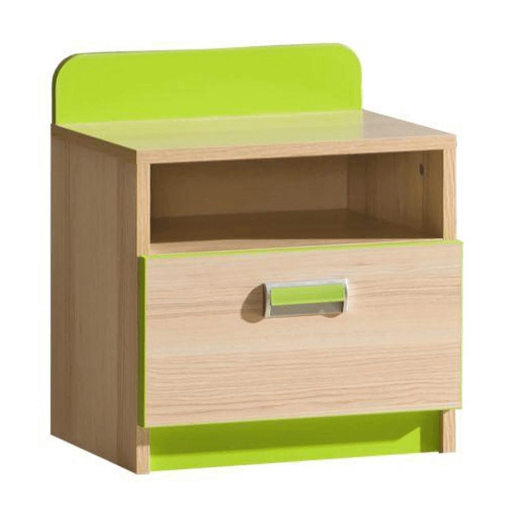Produktové foto Noční stolek, jasan / zelený, EGO L12