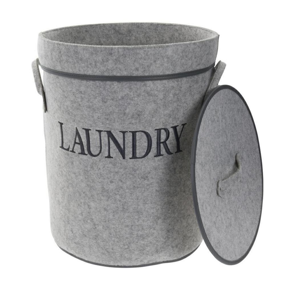 Produktové foto DekorStyle Koš na prádlo Laundry šedý