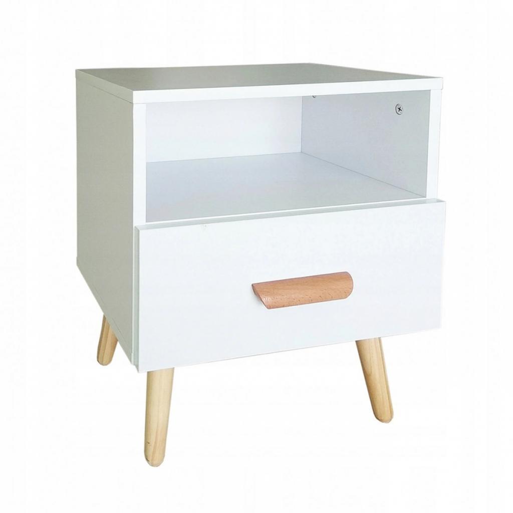 Produktové foto Noční stolek Ella ModernHome bílý