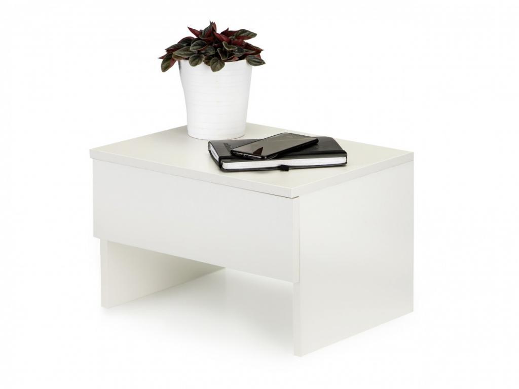 Produktové foto MODERNHOME Noční stolek Veera bílý