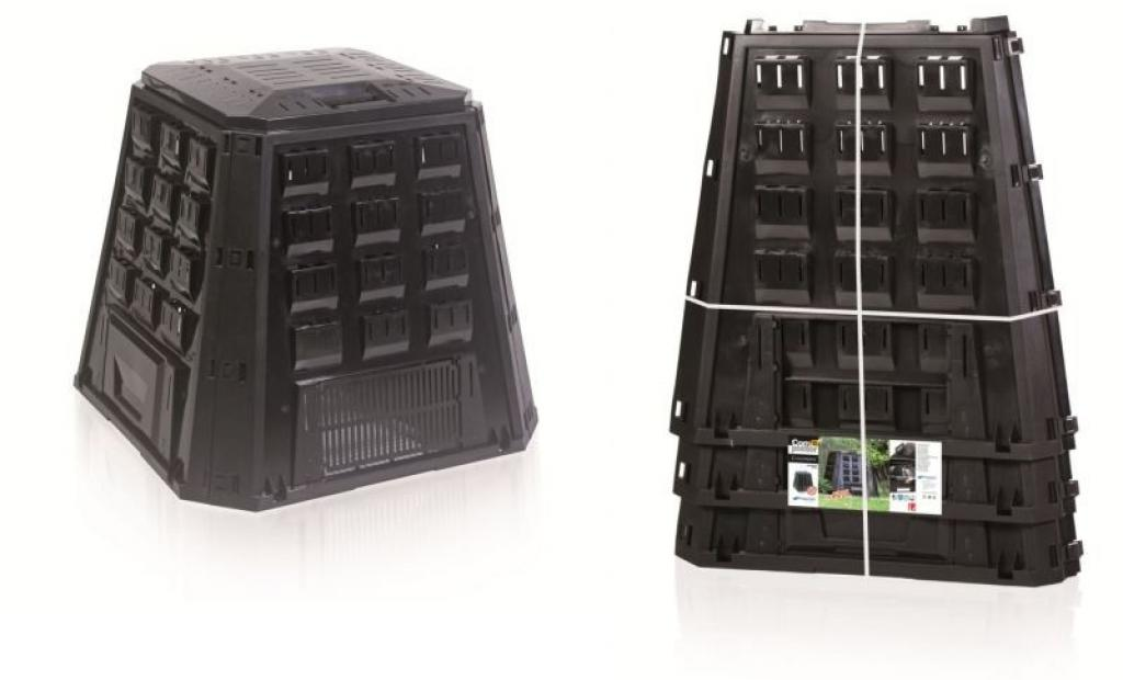Produktové foto PlasticFuture Zahradní kompostér EVOGREEN 420L černý