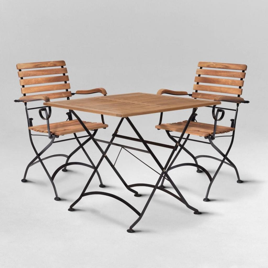 Produktové foto PARKLIFE Set zahradního nábytku 2 ks židle s područkami a 1 ks stůl - hnědá/černá