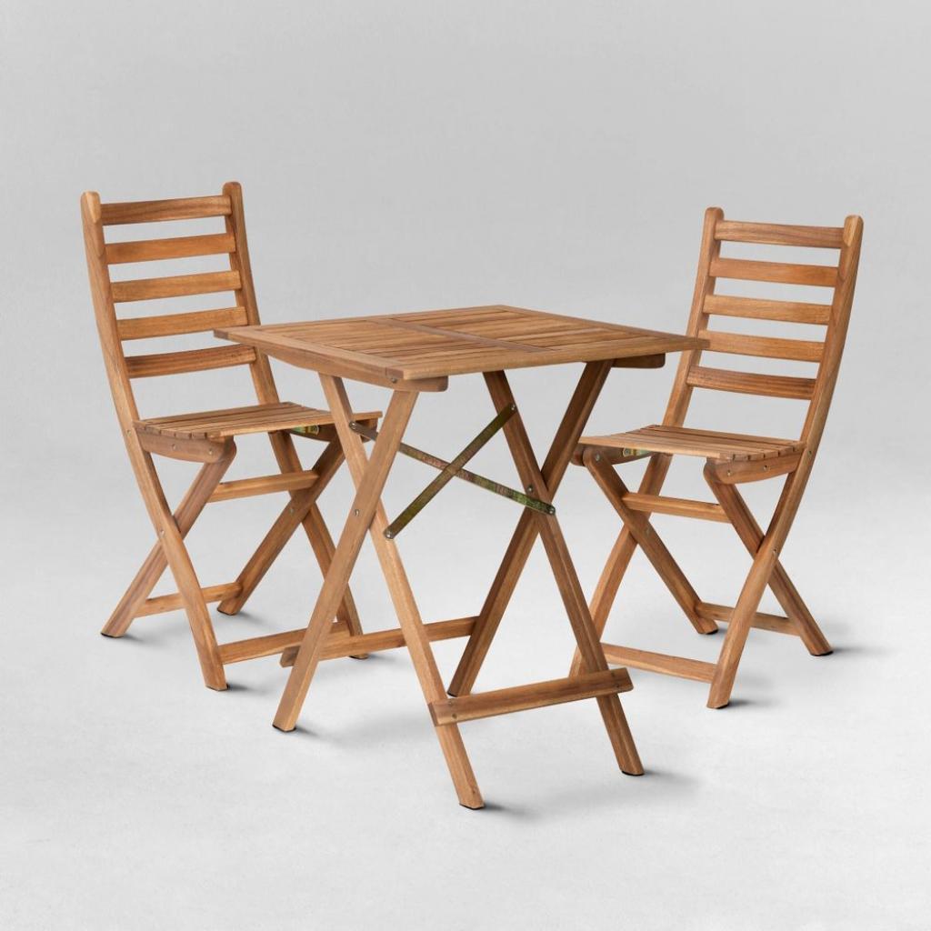 Produktové foto LODGE Set zahradního nábytku 2 ks židle a 1 ks stůl - přírodní