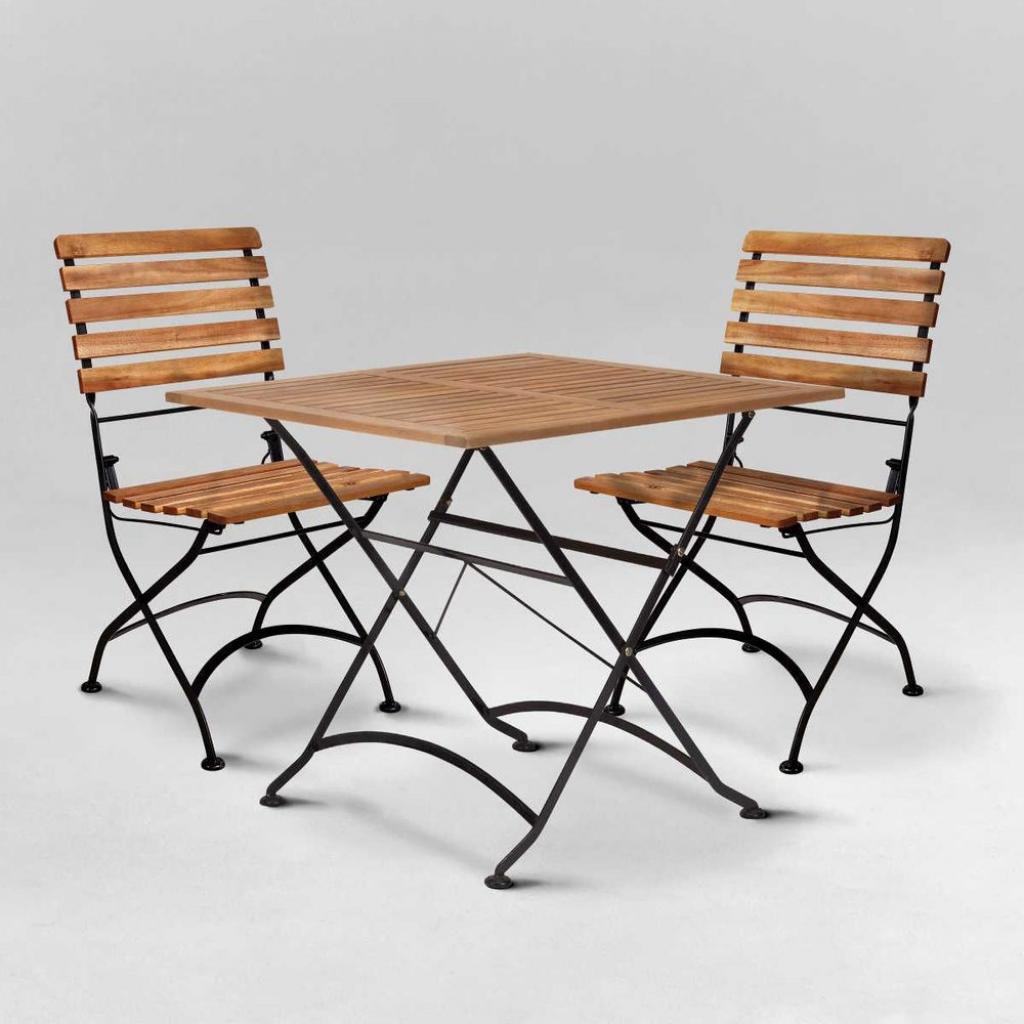 Produktové foto PARKLIFE Set zahradního nábytku 2 ks židle a 1 ks stůl - hnědá/černá