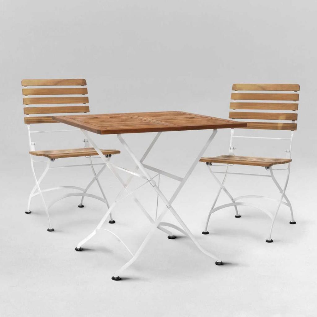 Produktové foto PARKLIFE Set zahradního nábytku 2 ks židle a 1 ks stůl - hnědá/bílá