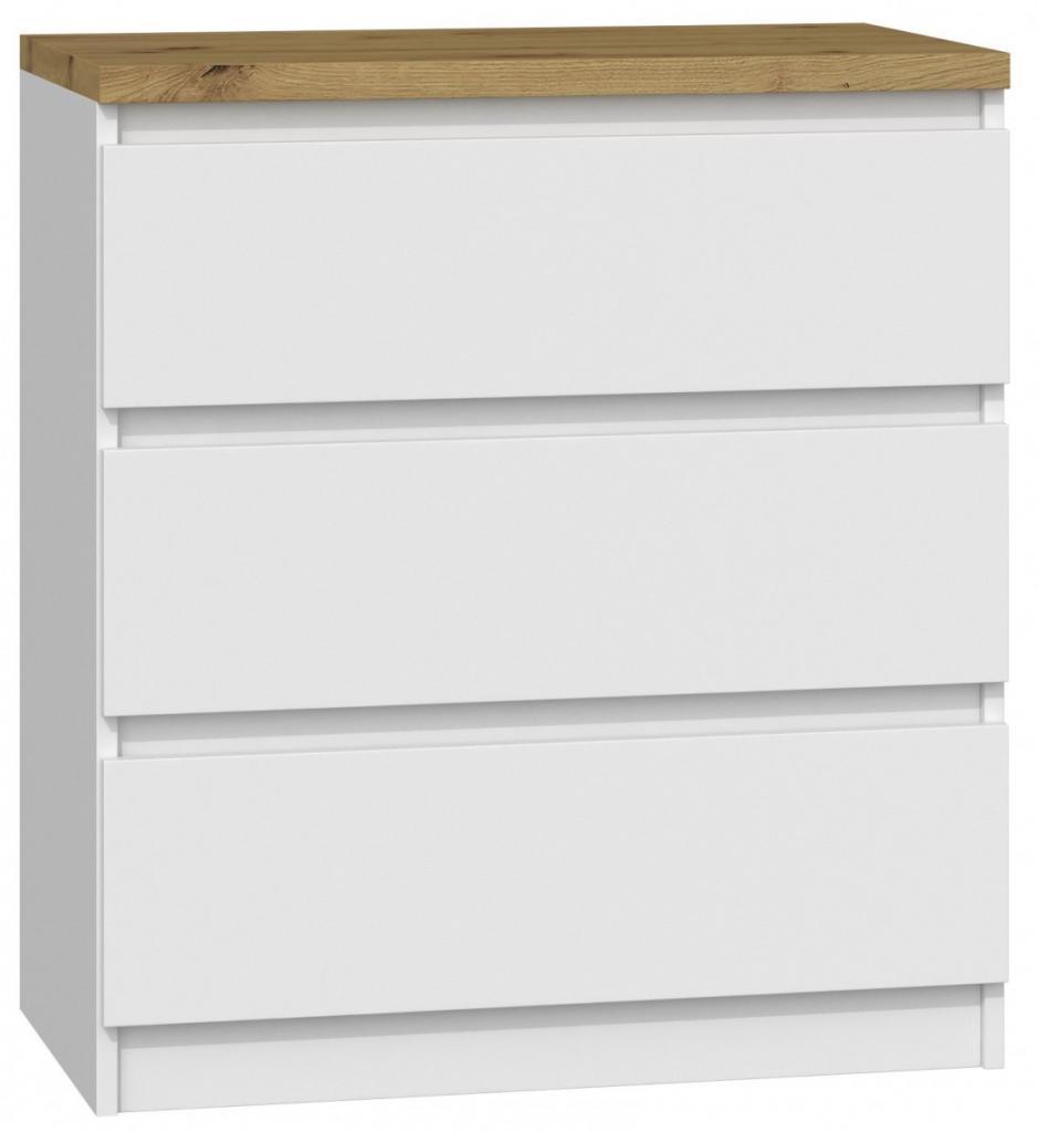 Produktové foto Shoptop Komoda ARTISAN M3 bílá - 3 šuplíky