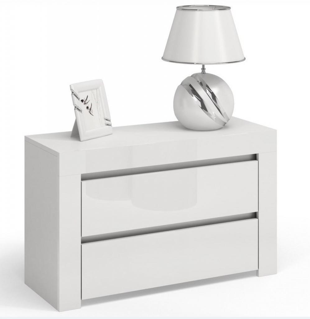 Produktové foto Shoptop Noční stolek DEKO D2 MAX bílý lesk