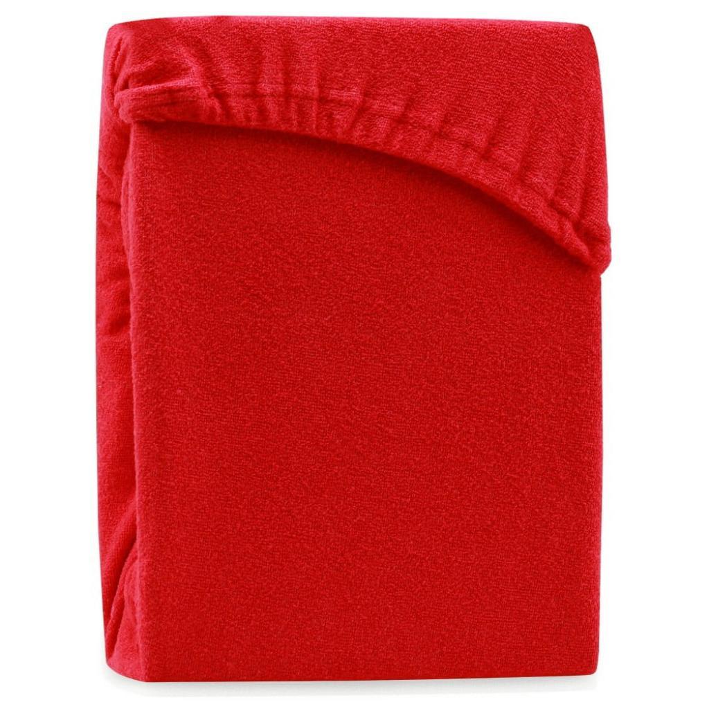 Produktové foto Červené elastické prostěradlo na dvoulůžko AmeliaHome Ruby Siesta, 220/240 x 220 cm