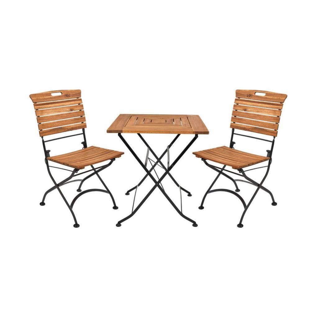 Produktové foto GARDEN STATE Set zahradního nábytku pro 2 osoby - hnědá/černá
