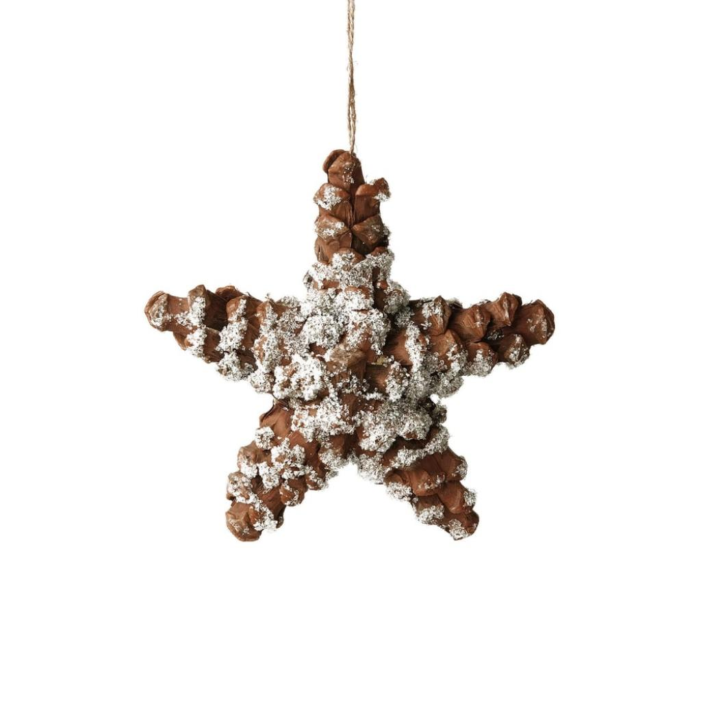 Produktové foto HANG ON Ozdoba šišky ve tvaru hvězdy