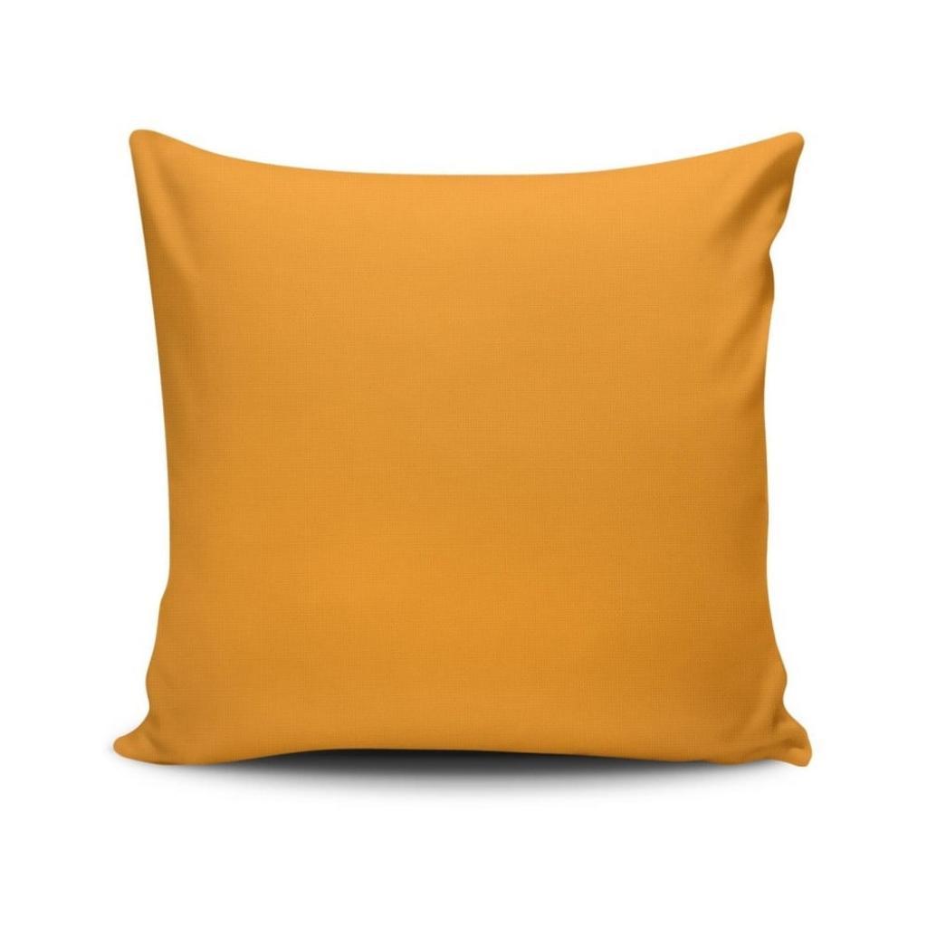 Produktové foto Oranžový povlak na polštář Riva, 45 x 45 cm