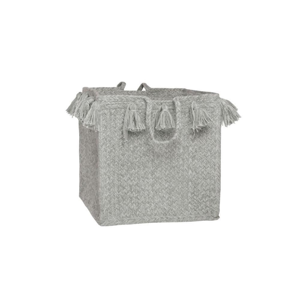 Produktové foto Šedý bavlněný ručně tkaný box Nattiot, ∅ 25 cm