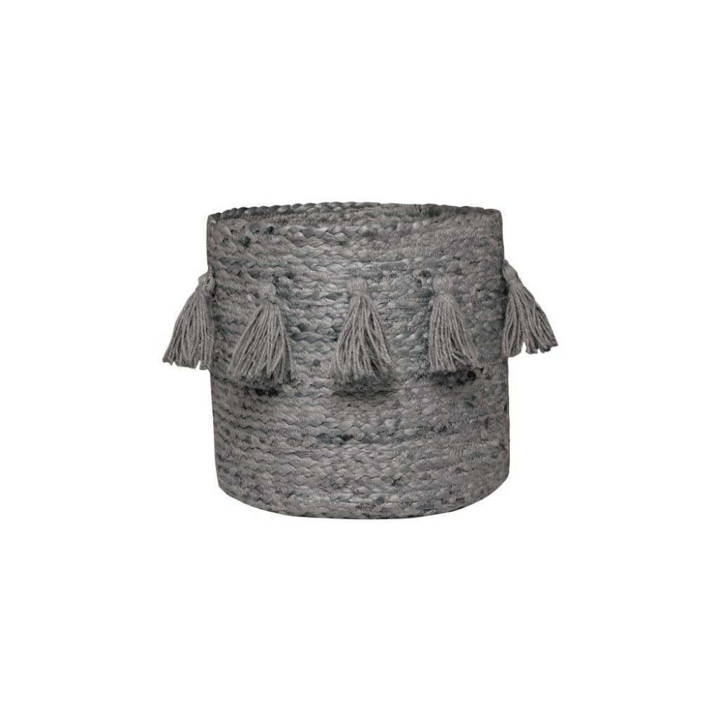 Produktové foto Šedý ručně tkaný box z konopného vlákna Nattiot, ∅ 30 cm