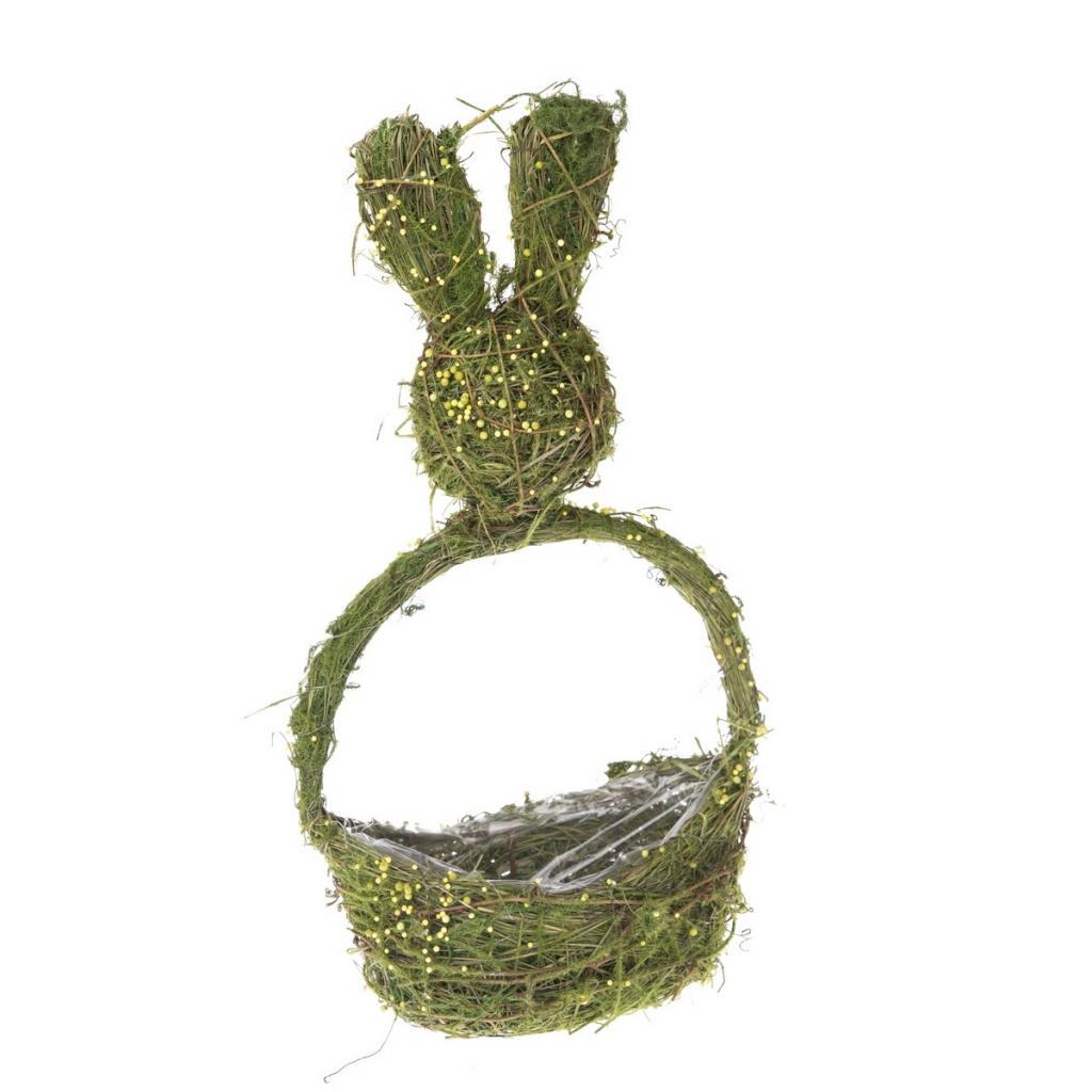 Produktové foto Proutěný velikonoční květináč Zajíc, 42 x 30 cm