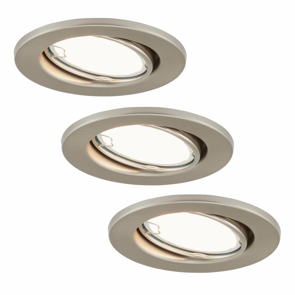 Produktové foto Briloner LED zapuštěná světla 7221-032 Fit sada 3ks v niklu