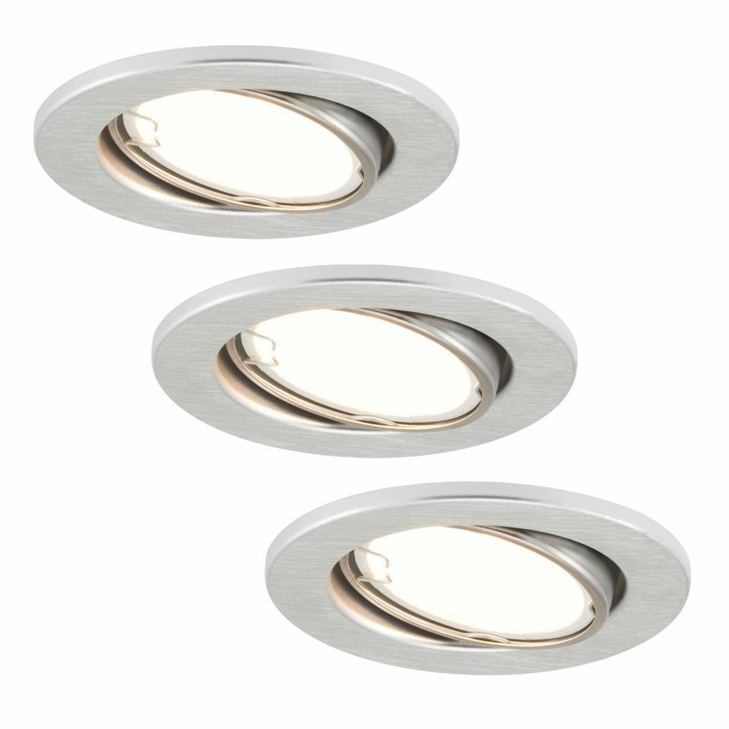 Produktové foto Briloner LED zapuštěná světla 7221-039 Fit sada 3ks hliník