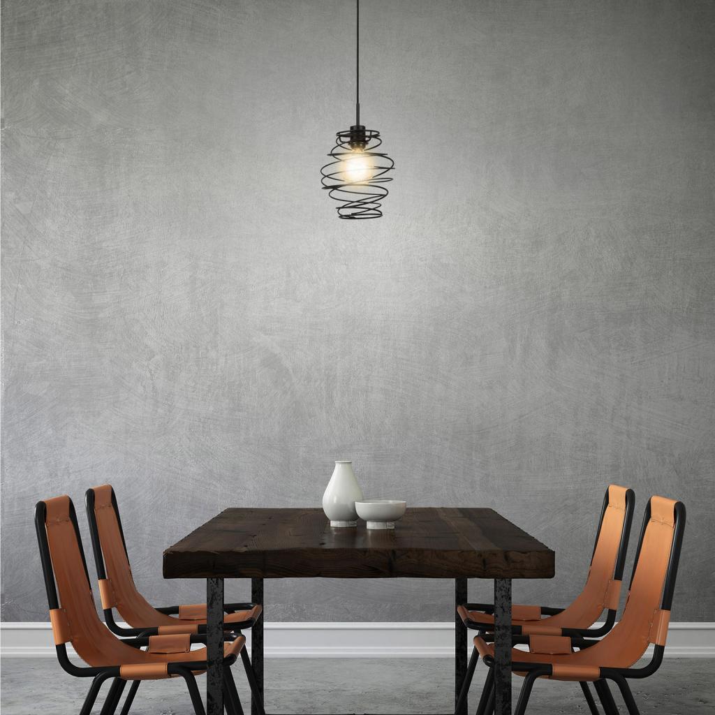 Produktové foto Briloner Závěsné světlo Black Steel 4870, jeden zdroj