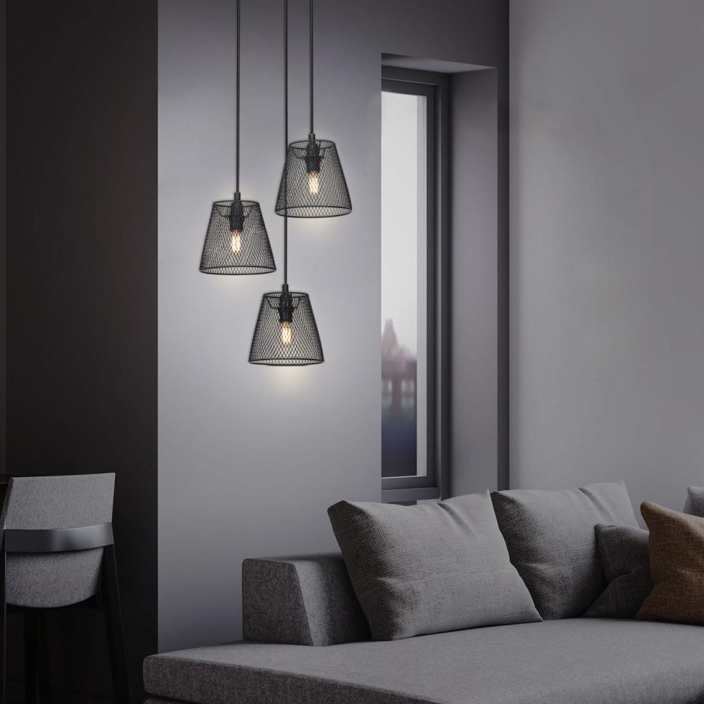 Produktové foto Briloner Závěsné světlo Wood & Style 4074, rund, tři zdroje